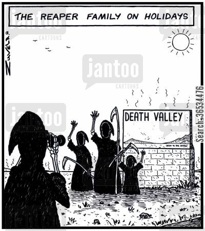 interstate cartoon humor: The Reaper family on Holidays