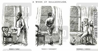 bad weather cartoon humor: A Week at Ballachulish, Pt. 1