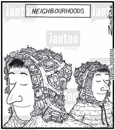 suburb cartoon humor: Neighbourhoods