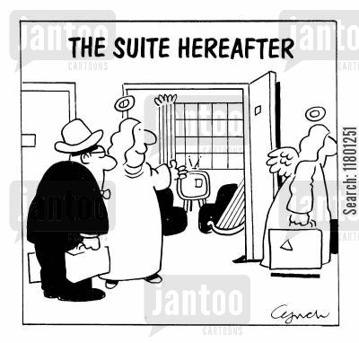 suite cartoon humor: The Suite Hereafter