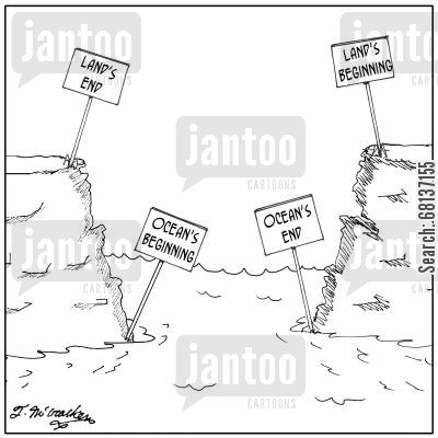 continent cartoon humor: Land's End