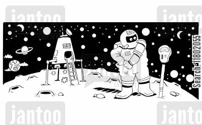 metres cartoon humor: Spaceman paying the meter for parking his spaceship.