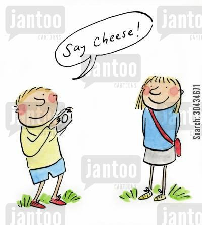 fuji cartoon humor: Say Cheese!