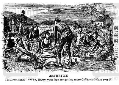 victorian picnic cartoon humor: Aesthetics