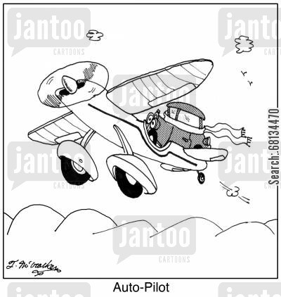 auto pilots cartoon humor: Auto-Pilot.