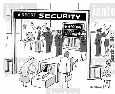 entered cartoon humor: Airport Security.