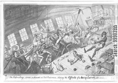 east india company cartoon humor: Dinner Aboard an East-India Ship (After Cpt. Francis Marryat)