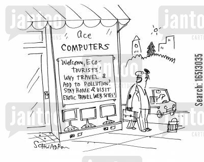 telecommuting cartoon humor: Ace Computers.
