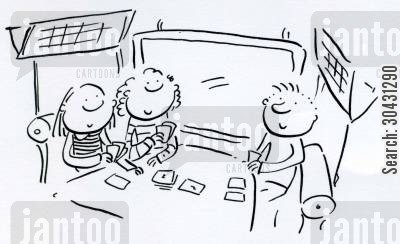 travel game cartoon humor: Games on a train.