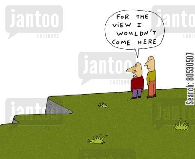 disappointments cartoon humor: 'For the view I wouldn't come here'