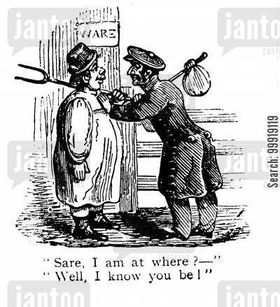 victorian traveller cartoon humor: Ware