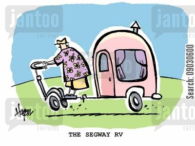 camper cartoon humor: The segway RV.
