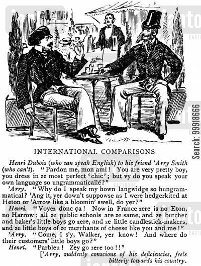 victorian school cartoon humor: International Comparisons