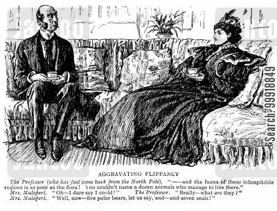 victorian sitting room cartoon humor: Aggravating Flippancy