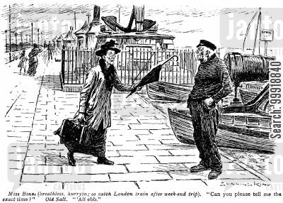 victorian tourist cartoon humor: Seaside