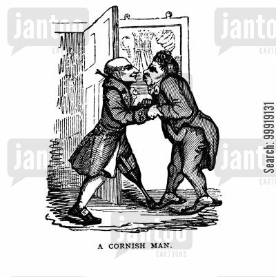 victorian tourist cartoon humor: A Cornish Man