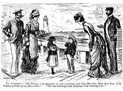 victorian tourist cartoon humor: An Epicure