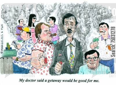 getaway cartoon humor: 'My doctor said a getaway would be good for me.'