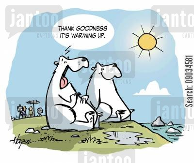 ice cap cartoon humor: Polar Bears Global Warming