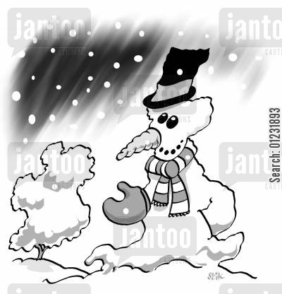 freezing weather cartoon humor: Snow UK.