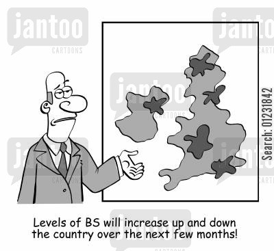 number10 cartoon humor: Levels of BS will increase up and down the country over the next few months.