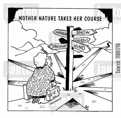 path cartoon humor: Mother Nature Takes her Course
