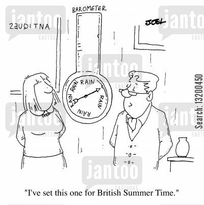 forecasting cartoon humor: British Summer Time
