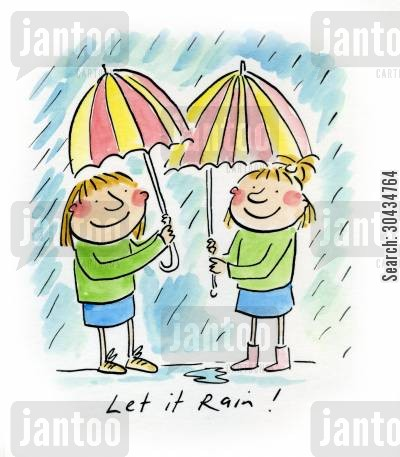 rained cartoon humor: Let it Rain!