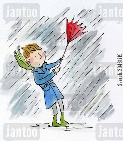 lightening cartoon humor: Rain.