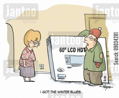lcd cartoon humor: 'I got the winter blues.'
