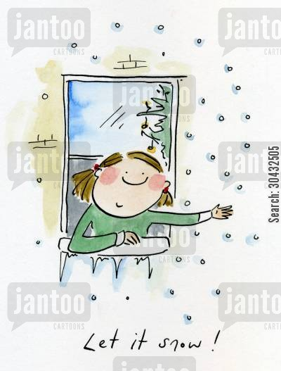 let it snow cartoon humor: Let it snow!