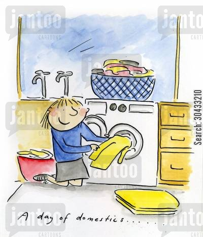 dishwasher cartoon humor: A day of domestics...