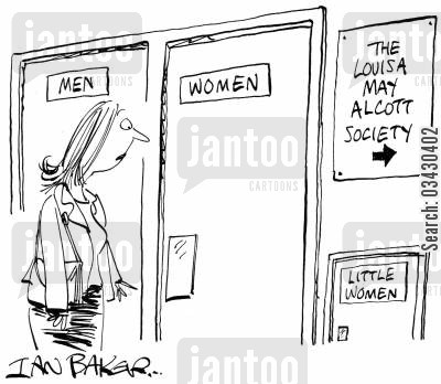 genders cartoon humor: Little Women