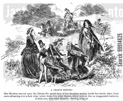 dickens charles dickens cartoon humor: A chance meeting