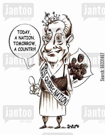 drag cartoon humor: Gilles Duceppe in Dragg: Today, a nation, tomorrow, a country,