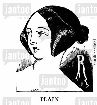 hair style cartoon humor: Plain Hairstyle
