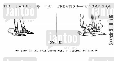 fashion cartoon humor: The Ladies of the Creation - Bloomerism. - No. II.