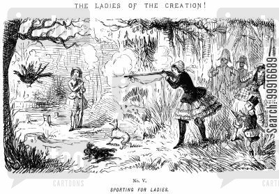 gender roles cartoon humor: Ladies of the Creation! - No. V - Sporting for ladies