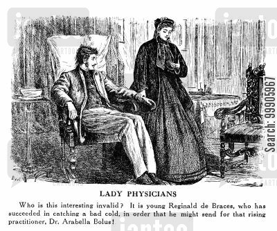 elizabeth garrett cartoon humor: Lady Physicians