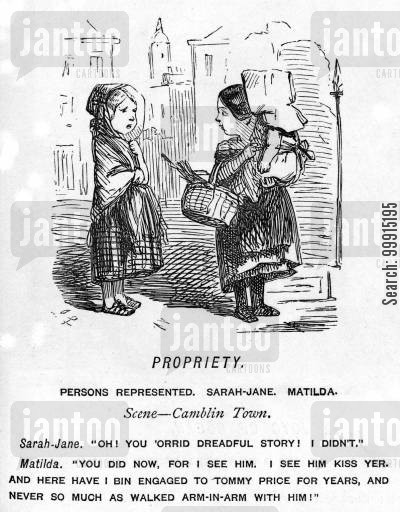 scandal cartoon humor: Propriety