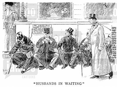 chains cartoon humor: 'Husbands in waiting' - The Ladies' Circle