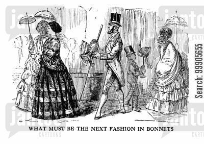crinolines cartoon humor: Illustration from an Unpublished Novel