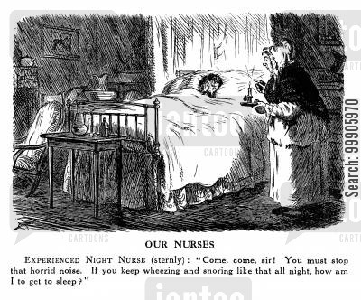 night nurse cartoon humor: Nursing