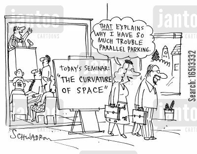 guest speaker cartoon humor: 'That explains why I have so much trouble parallel parking.'