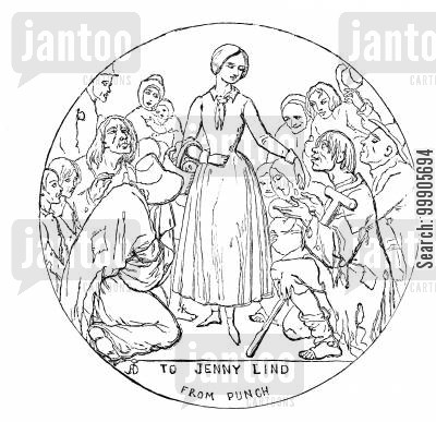 swedish nightingale cartoon humor: Jenny Lind - Singer
