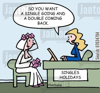 doubles cartoon humor: So you want a single going and a double coming back.