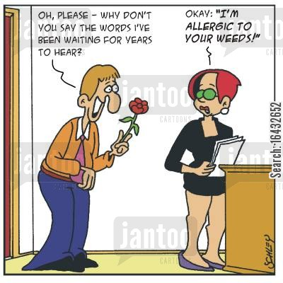 asks out cartoon humor: Oh, please - why don't you say the words I've been waiting for years to hear?