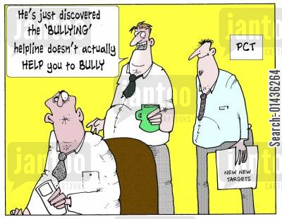 bullying helplines cartoon humor: 'He's just discovered the 'bullying; helpline doesn't actually help you to bully.'