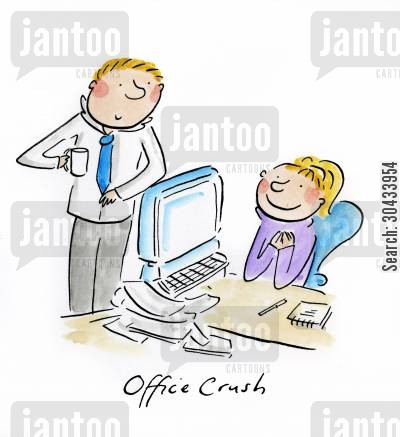 office crush cartoon humor: Office Crush
