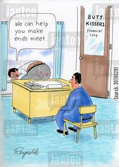making ends meet cartoon humor: 'We can help you make ends meet.'